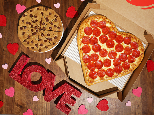 Pizza Hut Valentine's Day heart