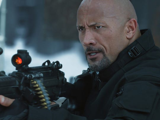 """When Dom goes rogue, Hobbs (Dwayne Johnson) takes the lead in """"The Fate of the Furious."""""""