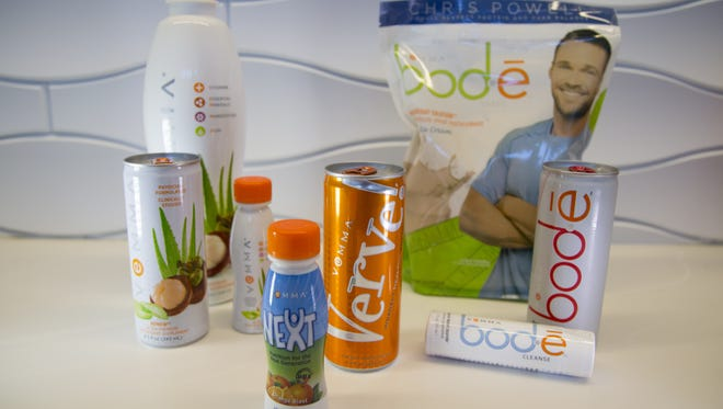 Vemma Nutrition's product lineup included, from left, Vemma, Next Verve and Bod-e.