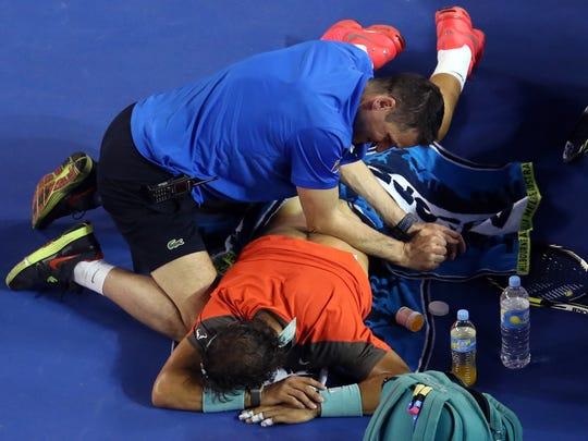 Rafael hurting