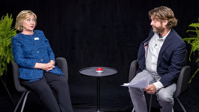 He's with her... 'Between Two Ferns.'