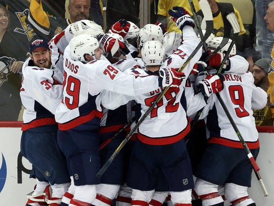 USP NHL: STANLEY CUP PLAYOFFS-WASHINGTON CAPITALS S HKN PIT WSH USA PA