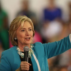 Democratic presidential candidate Hillary Clinton speaks during her campaign stop at the Broward College on Oct. 2, 2015 in Davie, Fla.