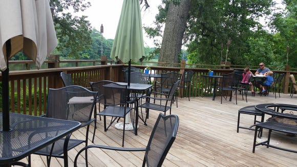 Pemberton Coffeehouse in Salisbury offers healthy breakfast, lunch and dinner options on a wood deck overlooking Mitchell Pond.