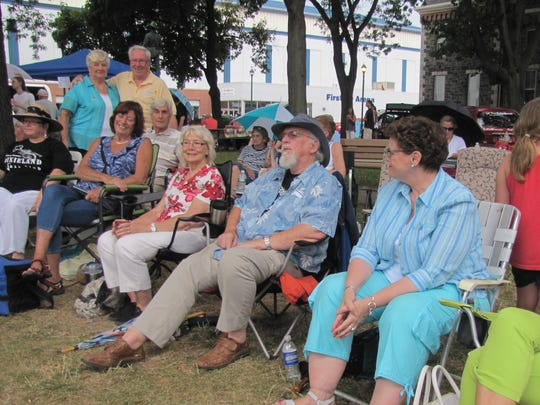 More than 20 members of the Kitchener-Waterloo Dixieland Jazz Club from Canada made the trip to Elmira for Saturday's Michelob Jazz Festival.