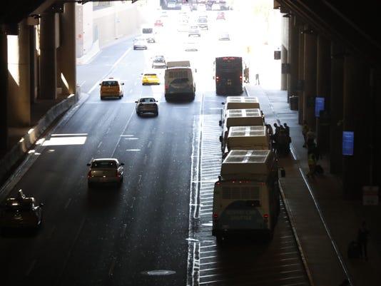 Traffic outside Terminal 4