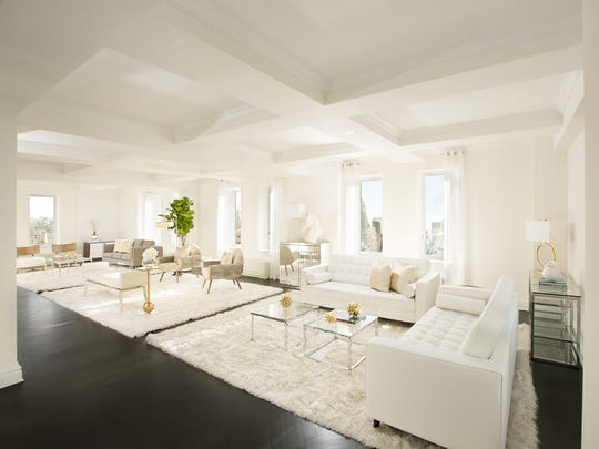 Penthouse 27 at Trump Park Avenue, decorated by Monique Breaux. The apartment sold recently for just over $14m.