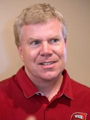 WKU director of athletics Todd Stewart spoke about the school's various teams during a visit to the Hunting Creek Country Club on Monday. 6/19/17