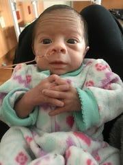 Anissa James Scott was born Oct. 20 to Petrino's daughter,