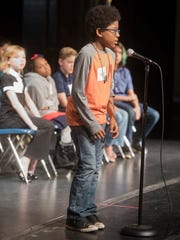 Xavier Johnson, of Benny Russell Elementary, wins the