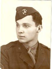 Eddy Glasberg's portrait from the U.S. Marine Corps during World War II
