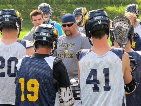 Coach Garnet Potter III has Hartland in the state Division