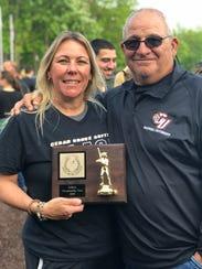 Cheryl Marion and former Belleville softball coach