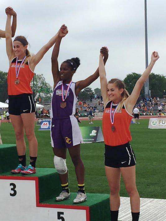Reynolds twins on podium