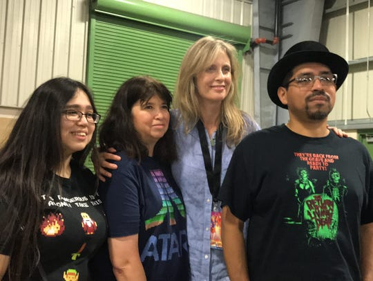 Helen Slater poses with fans at the second annual Corpus