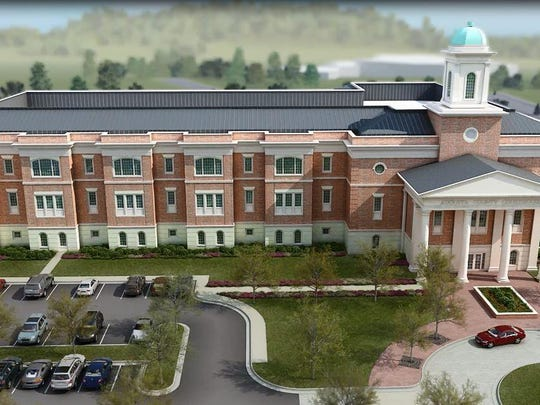 The proposed new Augusta County courthouse in Verona would cost at least $44 million.