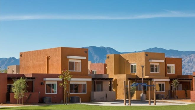 The Villa Hermosa Apartments in Indio offer affordable living arrangements for families through the Coachella Valley Housing Coalition.