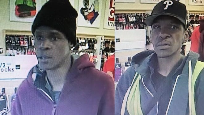 Delaware State Police are trying to idenitfy these men, whom police believe stole multiple pairs of sneakers from a Famous Footwear located at 3232 Kirkwood Highway.