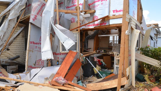 Island Lakes, a manufactured home community on Merritt Island, sustained extensive damage during Hurricane Irma.