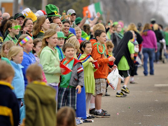 St. Patty's Day fans show their colors