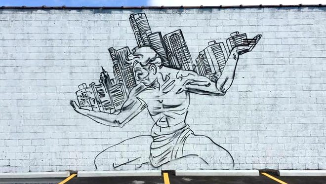 Buddy's Pizza has partnered with Detroit Street Artist Fel3000ft to create a mural outside the home of the original Detroit-style square pizza in Detroit.