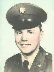 Pat Harney is seen in Army uniform in this 1961 photo.