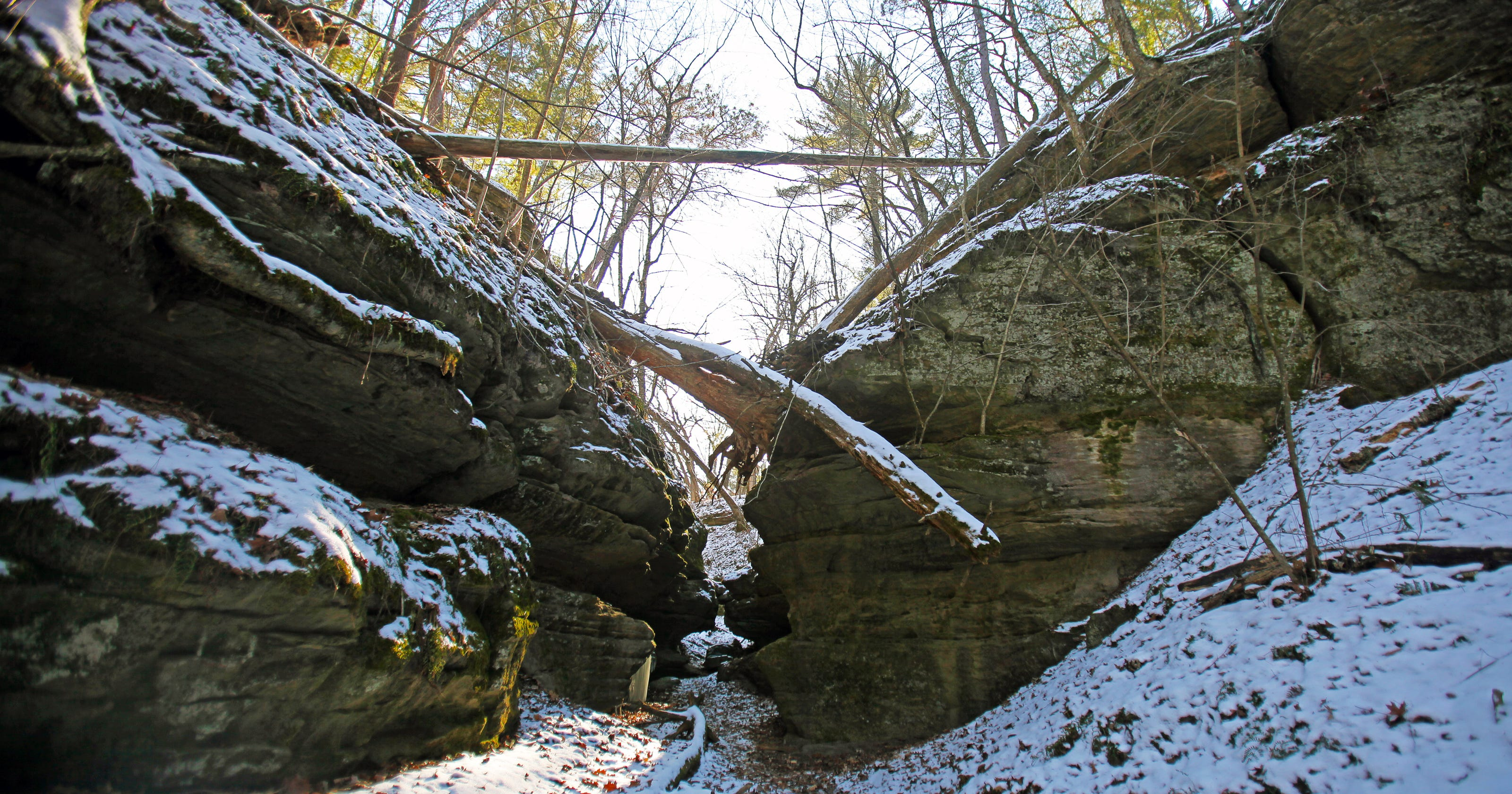 Mirror Lakes Fern Dell Gorge Is A Winter Wonderland