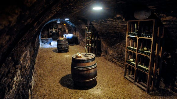 Inside the wine cellar of the Cordeliers.