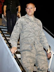 In this Sept. 3, 2015 file photo, U.S. Air Force Airman