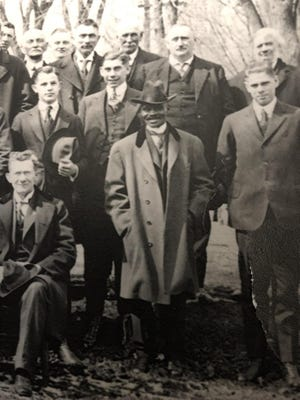 A church group from Fairport, including barber Abe Taylor.