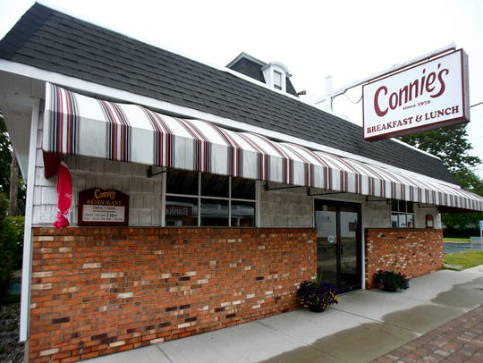 Exterior of Connie's Restaurant on Main Street in Farmingdale