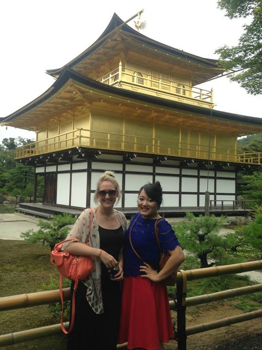 Posing in front of the Golden Pavilion