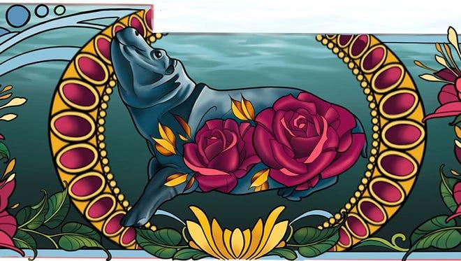 This is Jessica Seta's mural design.