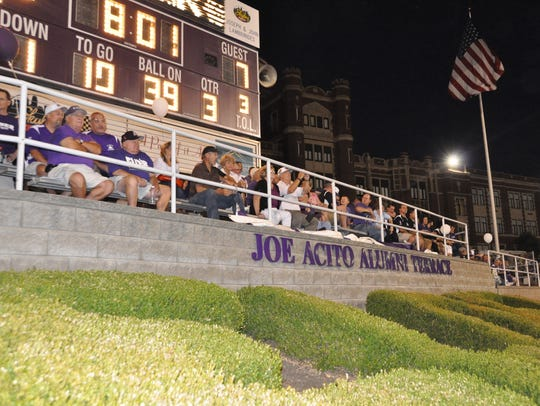 Elder dedicated its stadium terrace in honor of Joe