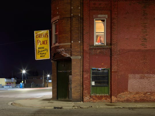 """""""Brent's Place"""" in Dave Jordano's photo book, """"A Detroit Nocturne."""""""