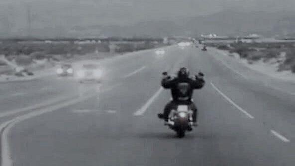Tyrone Love Jr. on his beloved motorcycle.