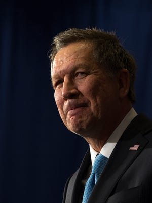 Ohio Gov. John Kasich, after finishing second in the New Hampshire GOP primary in 2016. Kasich is considering another bid for president.