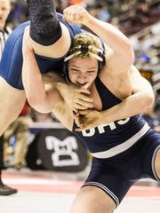 Dallastown's Bryce Shields, right, was the only York