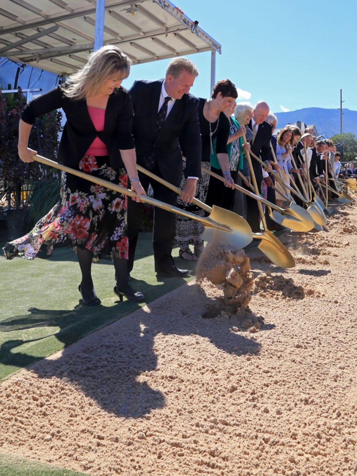 Groundbreaking ceremony for the LDS Cedar City Utah Temple.