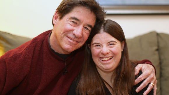 Paul Daugherty with daughter, Jillian Daugherty, 25.