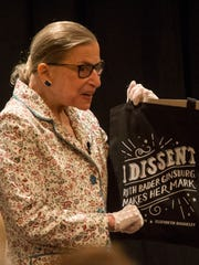 Supreme Court Justice Ruth Bader Ginsburg speaks in Sun Valley, Idaho, in July 2017. She maintained a busy schedule despite her health problems.