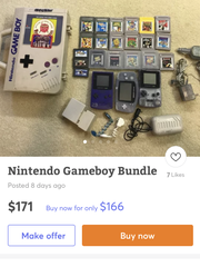 Old Game Boys and game cartridges.