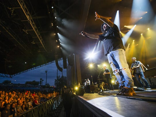 Counting Crows and front man Adam Duritz performs at