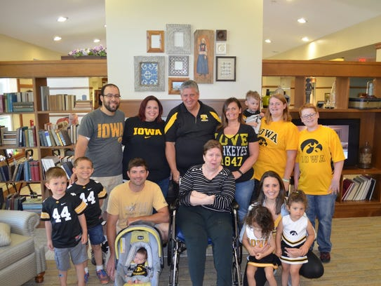 The Pyle family. shown in 2016. From left to right,