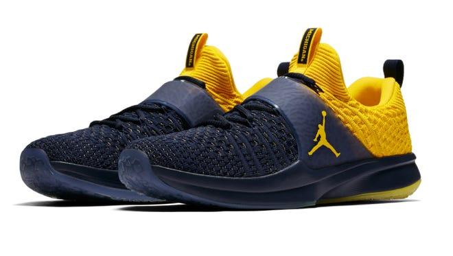 The new Michigan Nike Jordan Trainer 2.