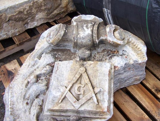 Remarkable rochester buried masonic stone carvings found