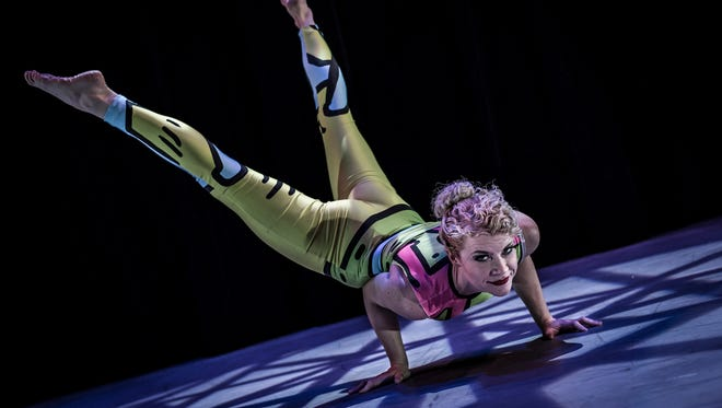The Acrobats of Cirquetacular, a three-person troupe, will perform March 12 at the Paramount Center for the Arts.