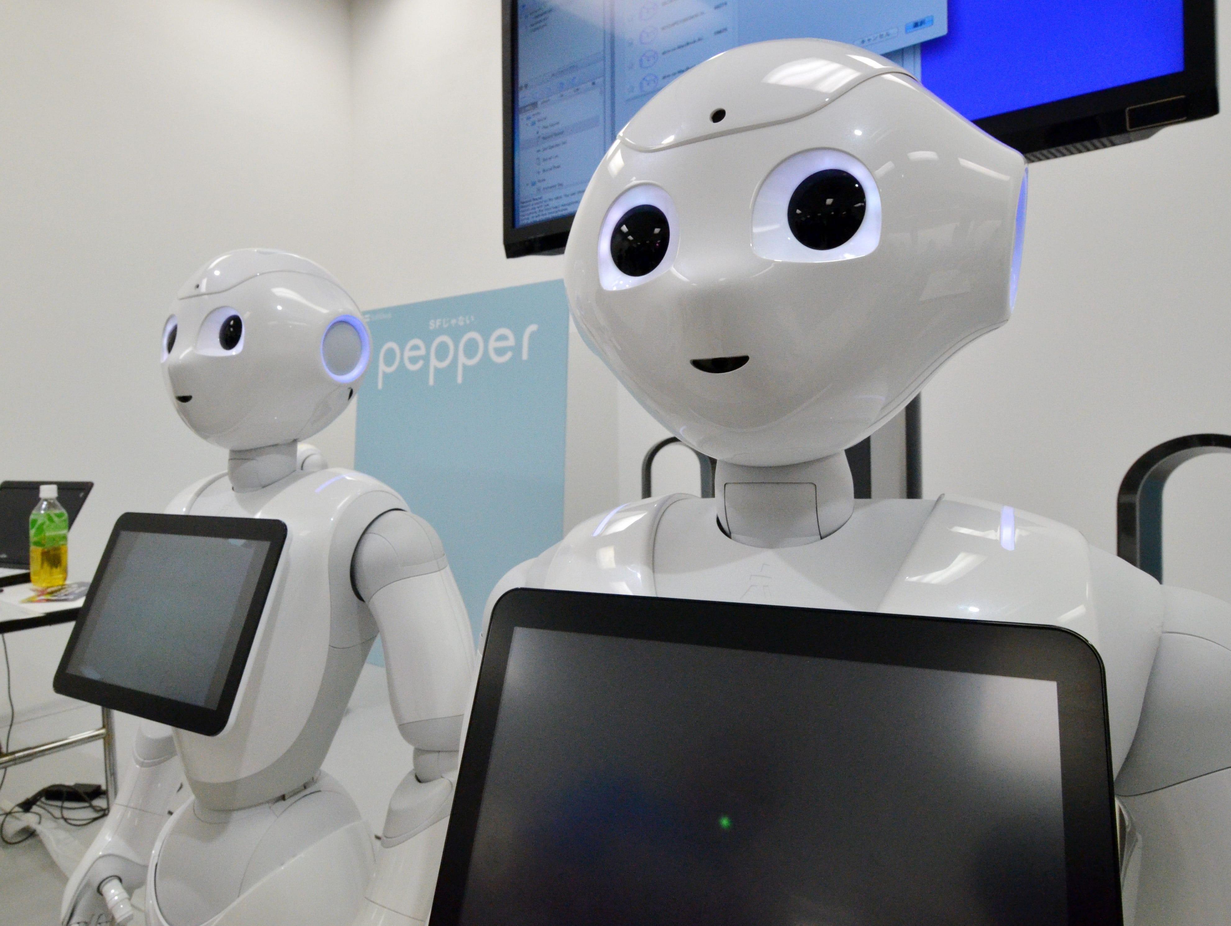 Japanese mobile communication giant Softbank's humanoid robot
