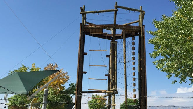 The 50-foot Tango Tower is located at Biggs Park.