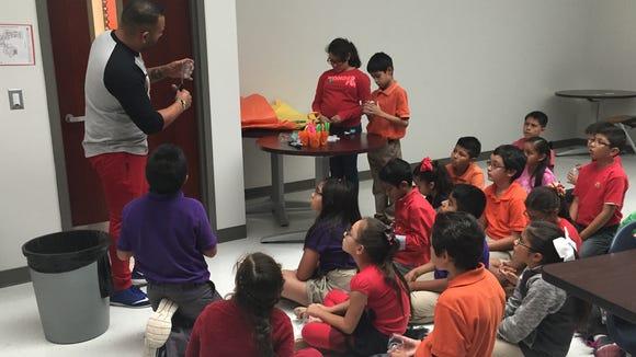 Mission Ridge Elementary School students learn how